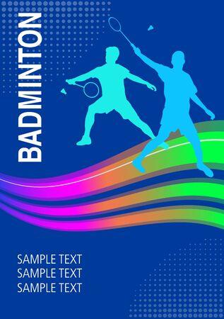 Badminton sport graphic in vector quality Vettoriali