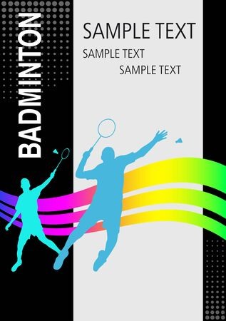 Badminton sport graphic in vector quality