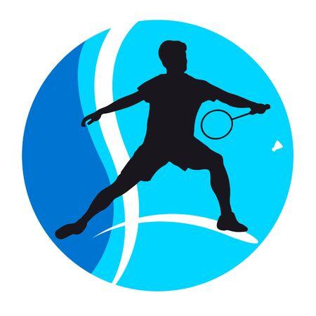 Badminton sport graphic in vector quality