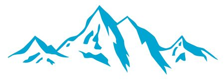 Abstract mountain graphic in vector quality