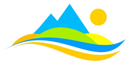 Mountain graphic in vector quality