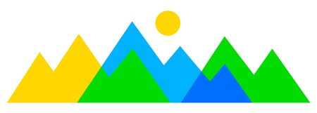 Mountain silhouette vector graphic