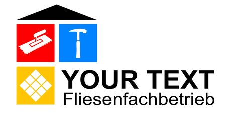 Tiler service craftsman vector illustration Vecteurs