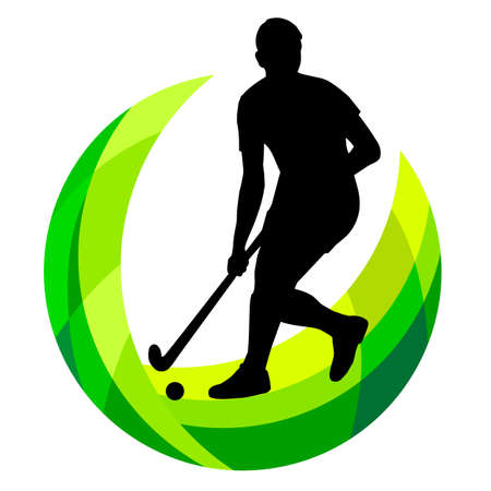 Hockey sport graphic in vector quality.