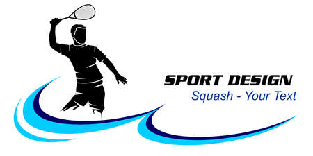 Squash sport graphic in vector quality.