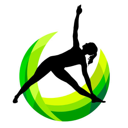 Fitness graphic in vector quality. Vektorgrafik