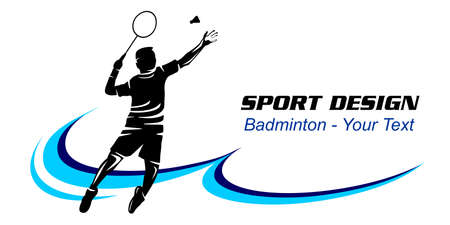 Badminton sport graphic in vector quality. Vettoriali