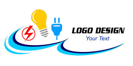 Electrician service graphic in vector quality. Vector Illustration