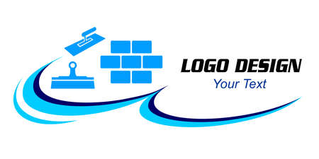 Plastering finishing company logo in vector quality.