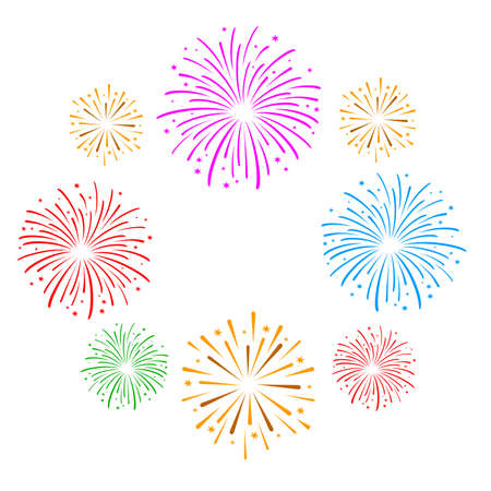 Fireworks graphic in vector quality.