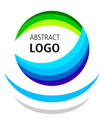 Abstract logo design with colored elements in vector quality.