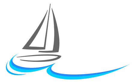 Sailing water sport logo in vector quality.