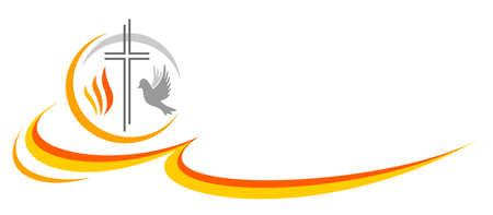 Christian religion design logo in vector quality.