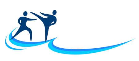 Martial art design logo in vector quality.