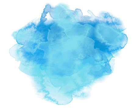 Abstract blue watercolor graphic in vector quality.
