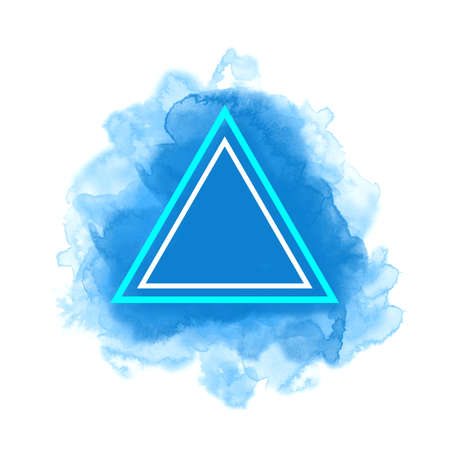 Abstract watercolor vector graphic in blue.
