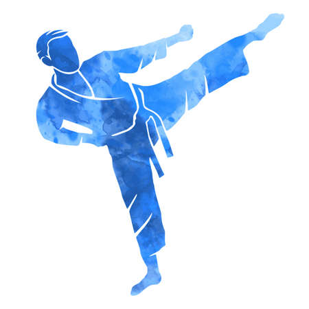 martial art graphic in vector quality.