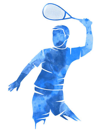 Abstract squash player graphic in vector quality.