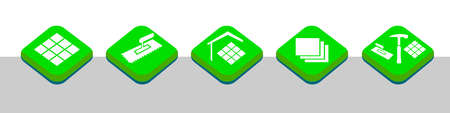 Tiler service graphic in vector quality.