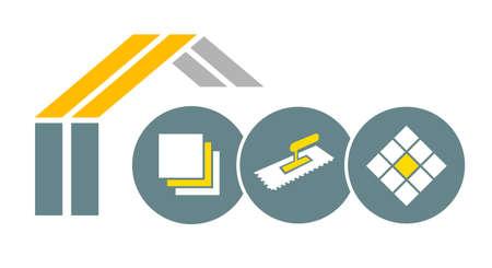 Tiler service graphic in vector quality. Vecteurs