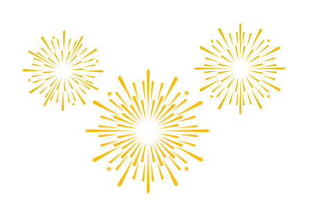 Fireworks graphic in vector quality. Vettoriali