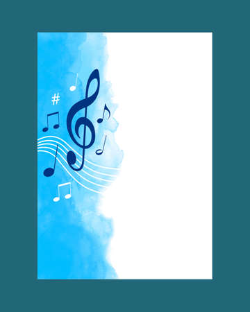 Music watercolor background in vector quality.