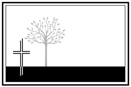 Grief and memorial graphic in vector quality.