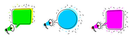 Bubble Badget Set - 6 in vector quality.