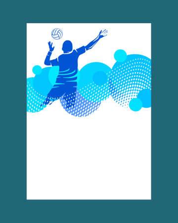Volleyball sport graphic in vector quality.