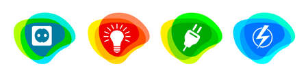 Electrician service buttons in vector quality. 矢量图像