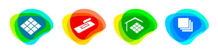Tiler Service button set in vector quality.