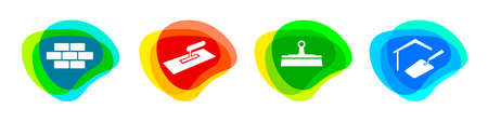 Plastering service buttons in vector quality.