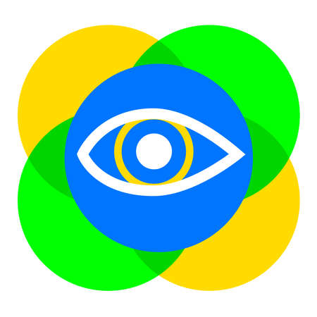 Eye graphic with abstract background in vector quality.