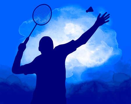 Badminton sport graphic in vector quality.