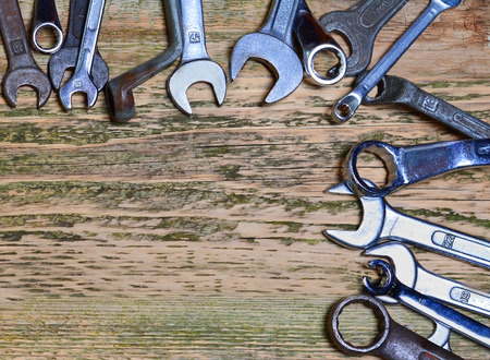 Tools on the wood background  photo