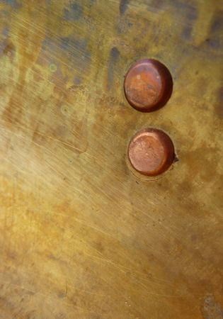 industrail: brass metal texture with two dot