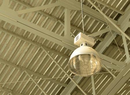 lamp light: dirty aluminum electric lamp light