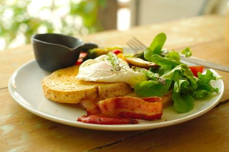 benedict: egg benedict  breakfast Stock Photo