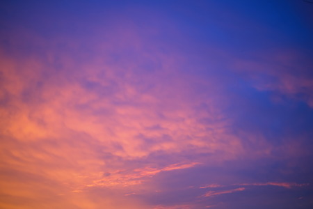 nature scenery: blue sky at sunset with cloud background Stock Photo