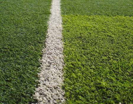 grass: green grass football flied with white line
