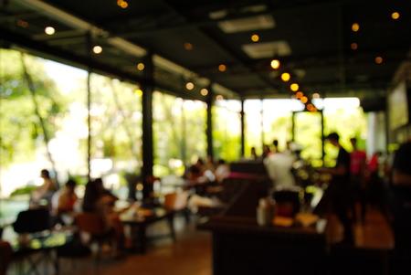 dark blur cafe