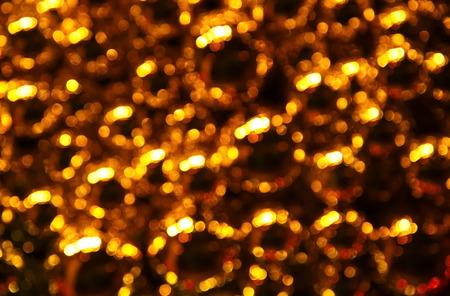 golden ball: blur golden ball abstract Stock Photo