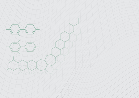 grey vector chemical structure with mesh line modern science technology background