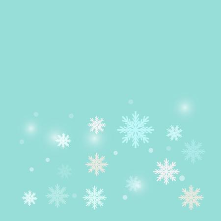 Christmas snowflake on light blue background design vector