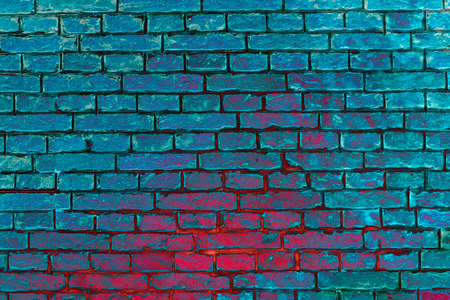 red and blue turquoise brick sea water colorful  summer wall background 版權商用圖片