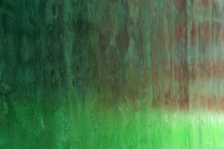 spring green nature light reflection on cement wall grunge architecture background Foto de archivo - 126281210