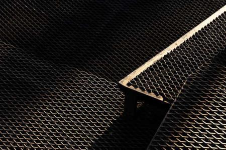 black dark steel metal texture net grunge floor architecture background