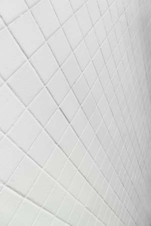 modern line of white rectangular tile wall architecture background