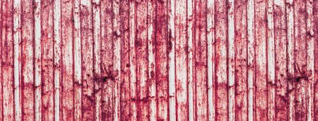 grunge red pink rusty metal striped texture industrial banner background