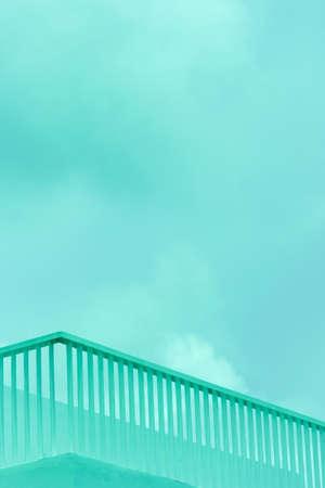 white blue minimalism row fence of modern architecture background Imagens